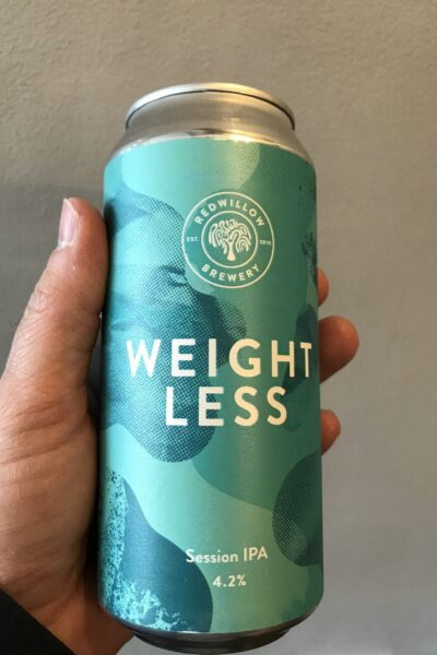 Weightless Session IPA by Redwillow Brewery.