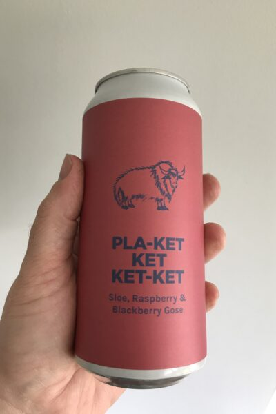 Pla-ket Ket Ket-ket Sloe, Raspberry and Blackberry Gose by Pomona Island.
