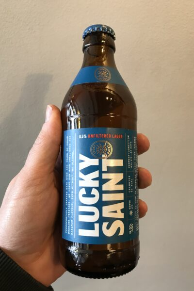 Lucky Saint Unfiltered Low Alcohol Lager by Lucky Saint.