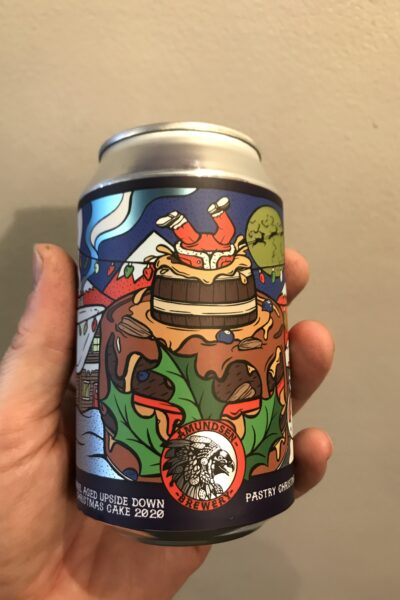 BA Upside Down Christmas Cake Pastry Stout by Amundsen.