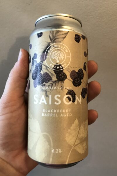 Blackberry Barrel Aged Saison by RedWillow Brewery.