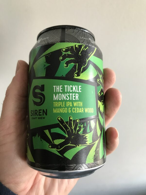The Tickle Monster Triple IPA by Siren Craft Brew.