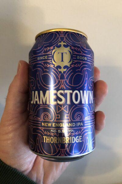 Jamestown New England IPA by Thornbridge Brewery.