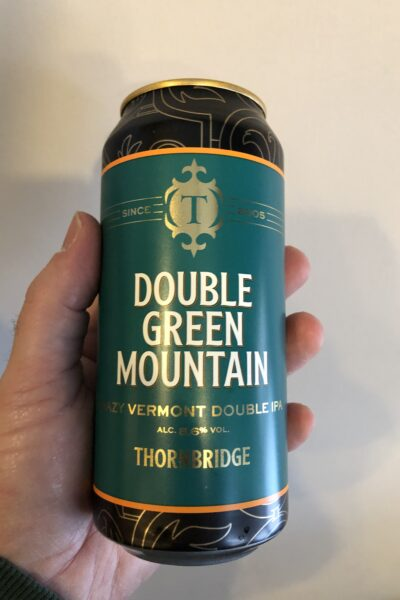 Double Green Mountain Hazy Vermont Double IPA by Thornbridge Brewery.
