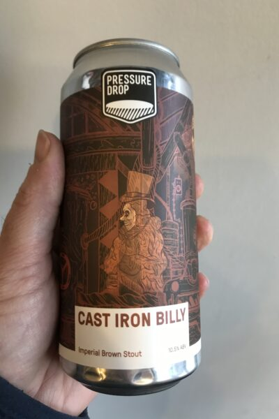 Cast Iron Billy Imperial Stout by Pressure Drop Brewing.
