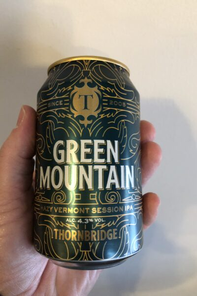Green Mountain Session IPA by Thornbridge Brewery.