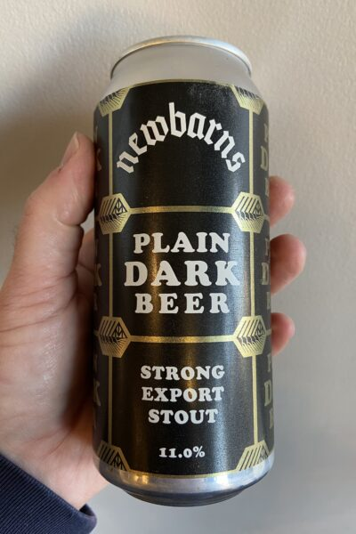 Plain Dark Beer Imperial Stout by Newbarns Brewery.