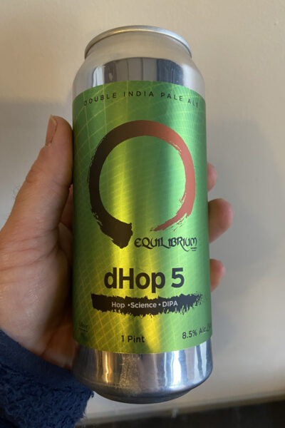 dHop 5 DIPA by Equilibrium Brewing.