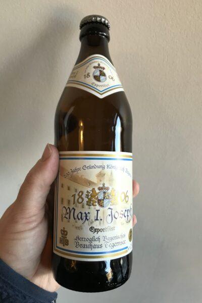 Max I. Joseph Jubiläums Export by Herzoglich Bayerisches Brauhaus Tegernsee.