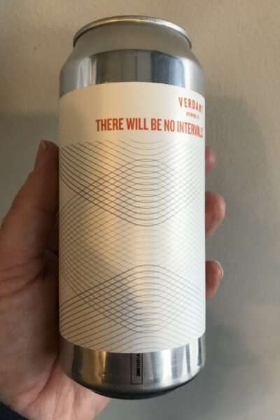 There will be no intervals pale ale by Verdant Brewing Co.