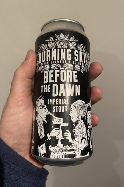 Before the Dawn Imperial Stout by Burning Sky Brewery.