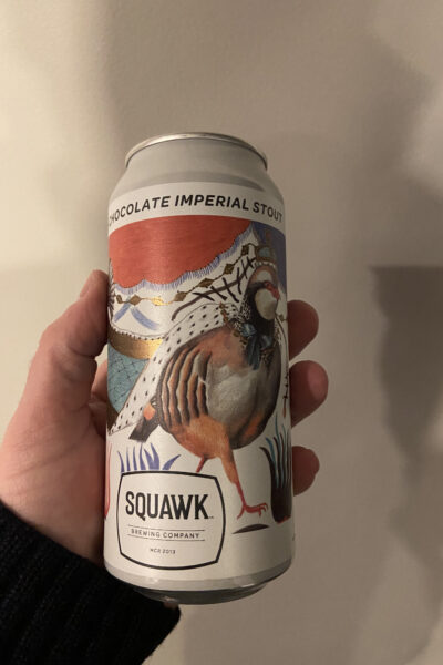 Rufa Chocolate Imperial Stout by Squawk Brewing Company.