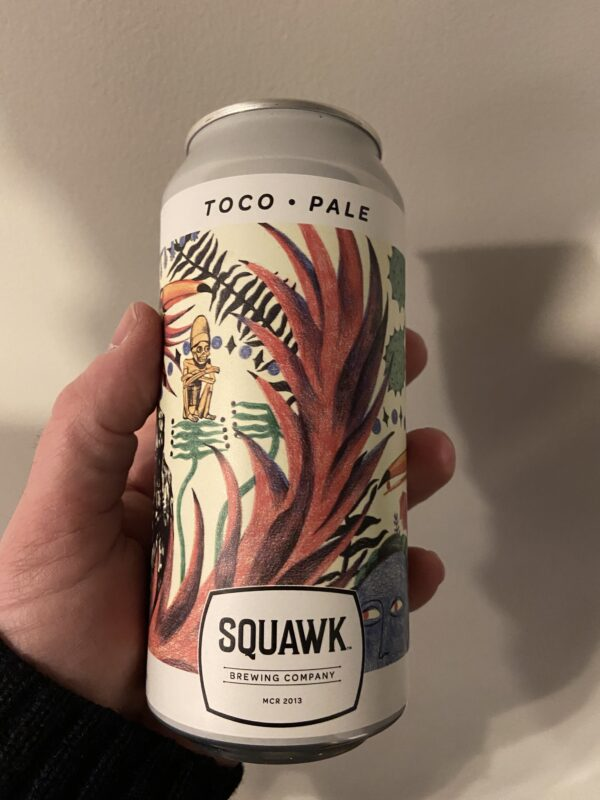 Toco Pale ALe by Squawk Brewing Company.