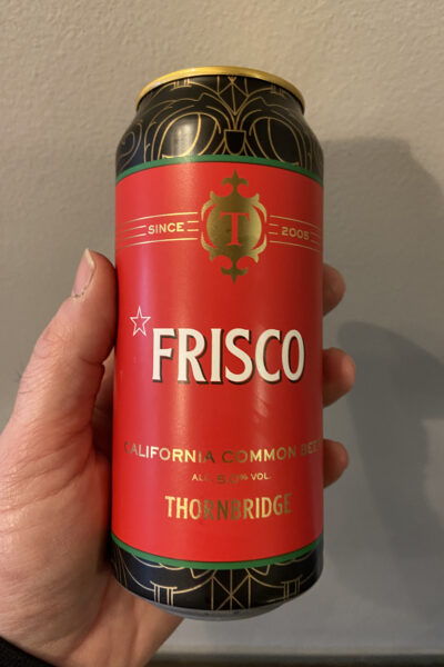 Frisco California Common Beer. by Thornbridge Brewery.