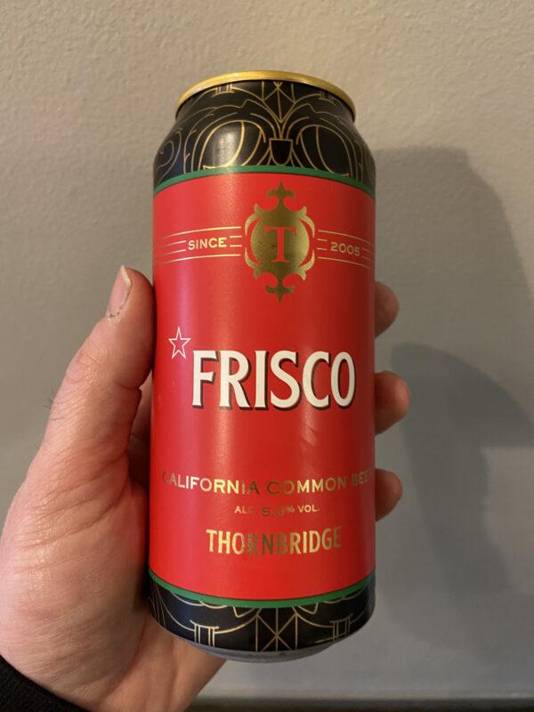 Frisco California Common Beer. by Thornbridge Brewery.