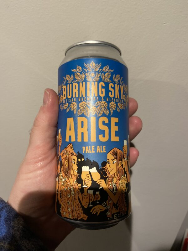 Arise American Pale Ale by Burning Sky Brewery.