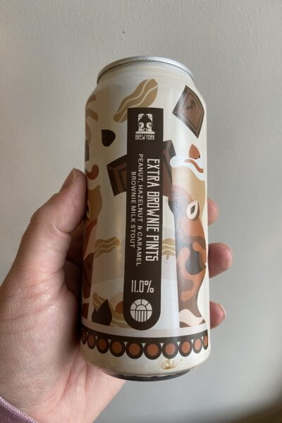 Extra Brownie Pints Imperial Milk Stout by Brew York.