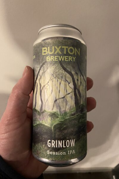 Grinlow Session IPA by Buxton Brewery.