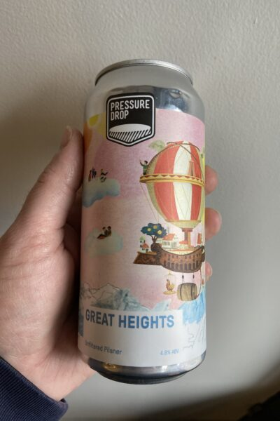 Great Heights Pilsner by Pressure Drop Brewing.