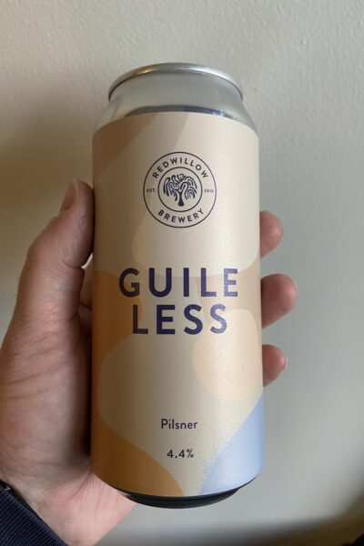 Guileless Pilsner by RedWillow Brewery.