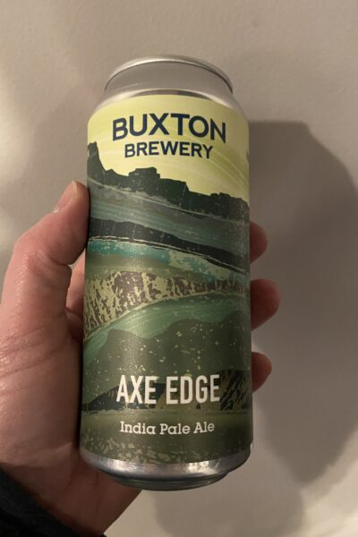 Axe Edge IPA by Buxton Brewery.