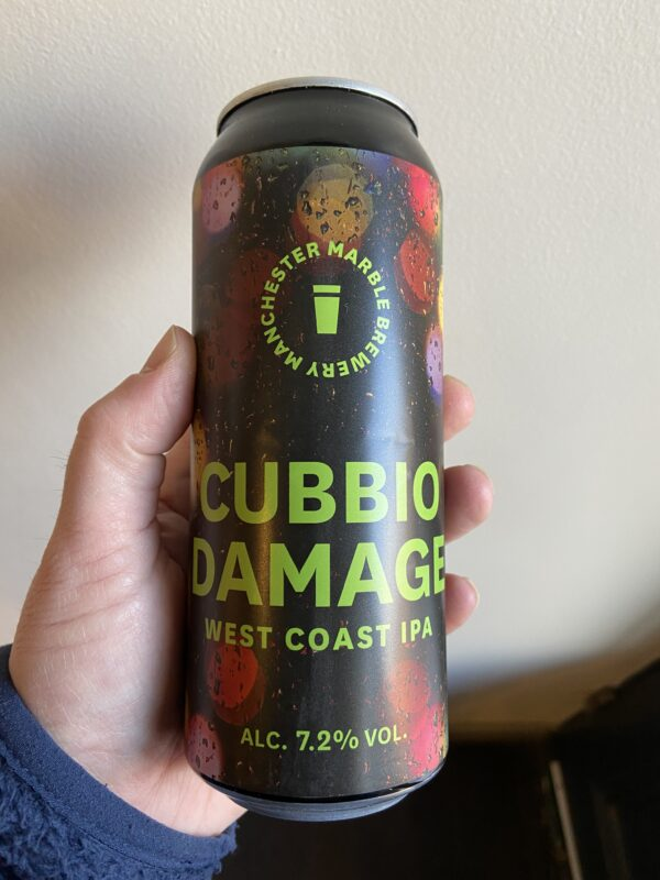 Cubbio Damage West Coast IPA by Marble Beers.