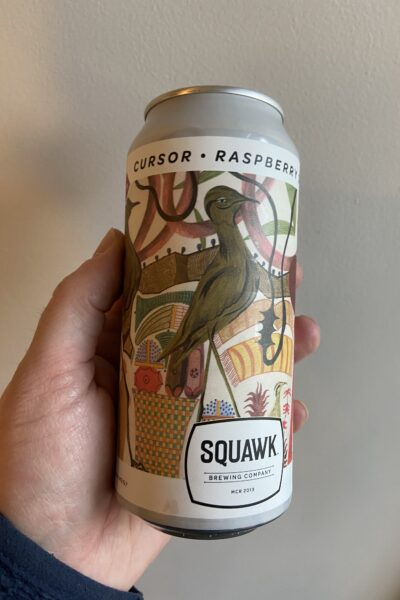 Cursor Raspberry Sour by Squawk Brewing Company.