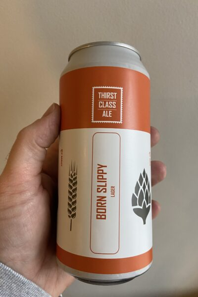 Born Slippy Lager by Thirst Class Ale.