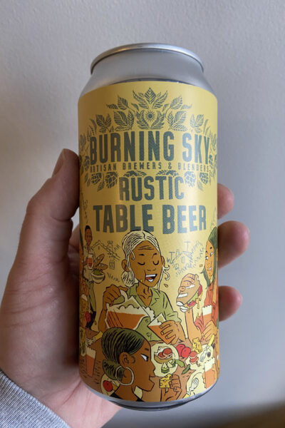 Rustic Table Beer by Burning Sky Brewery.