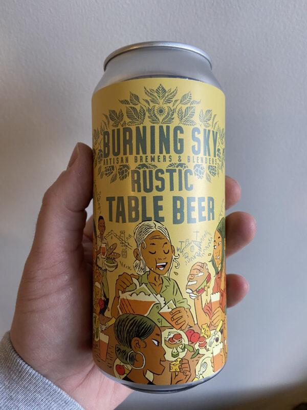 Rustic Table Beer by Burning Sky Brewery.