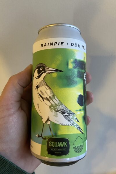 Rainpie DDH New England IPA by Squawk Brewing x Cloudwater.
