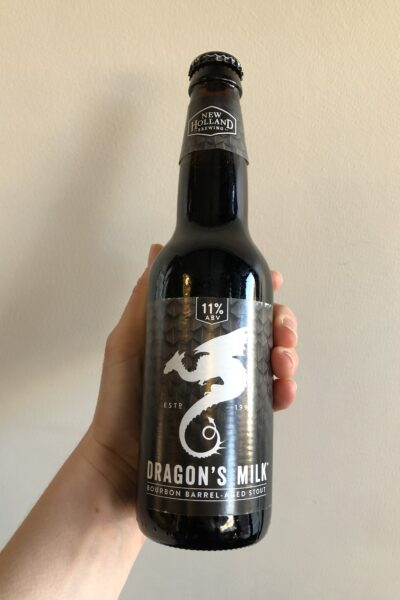 Dragon's Milk Imperial Stout by New Holland Brewing.