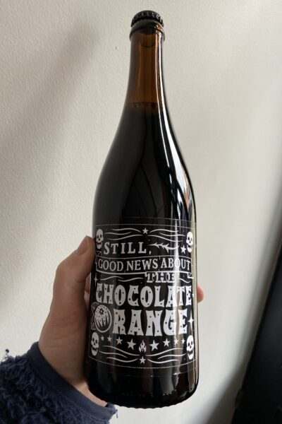 Still Good News About the Chocolate Orange Imperial Stout by Black Iris.