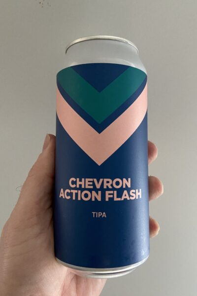 Chevron Action Flash Triple IPA by Pomona Island Brew Co.