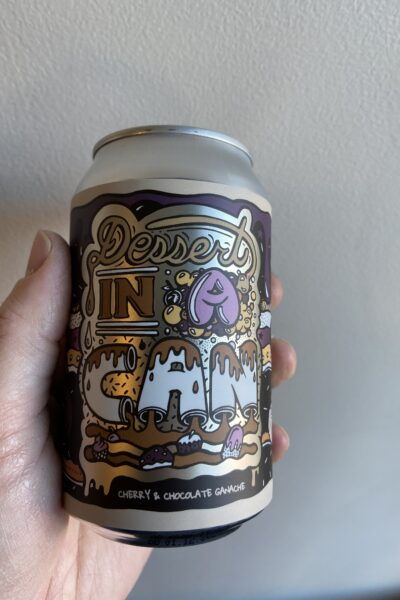Dessert In A Can Cherry and Chocolate Ganache by Amundsen Brewery.