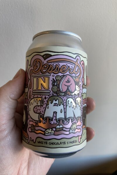 Dessert In A Can White Chocolate Smores by Amundsen Brewery.