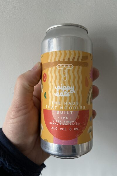 The Haus that Noodles Built IPA by Track Brewing Company.
