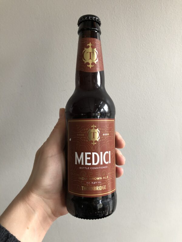 Medici Imperial Brown Ale by Thornbridge Brewery.