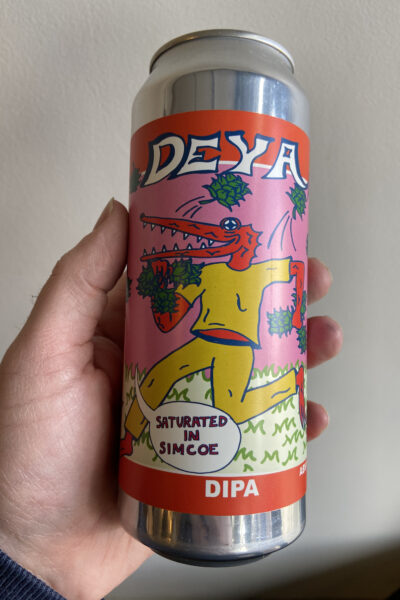 Saturated in Simcoe DIPA by Deya Brewing Company.