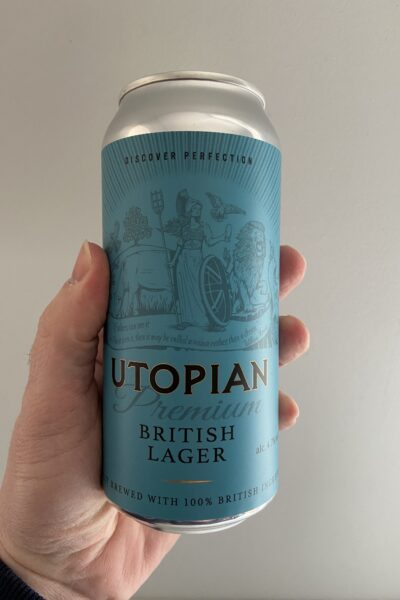 Premium British Lager by Utopian Brewing.