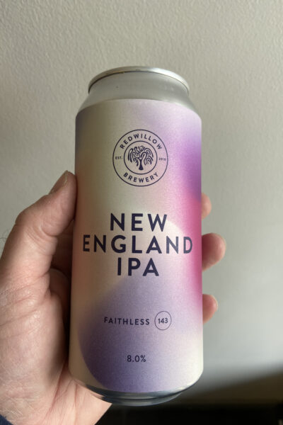 Faithless 143 New England DIPA by RedWillow Brewery.