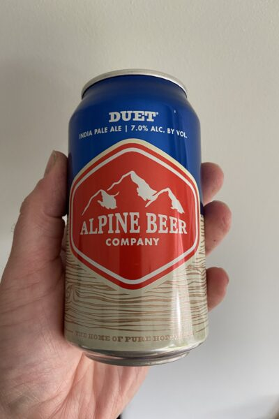 Duet IPA by Alpine Beer Company.