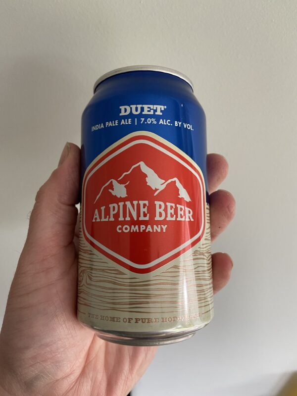 Duet IPA by Alpine Beer Company.