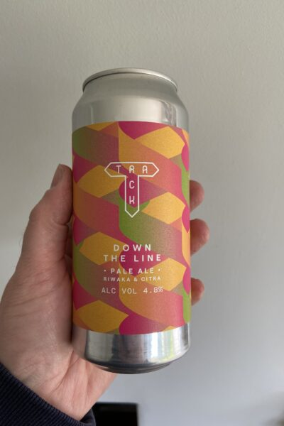 Down the Line NE Pale by Track Brewing Company.