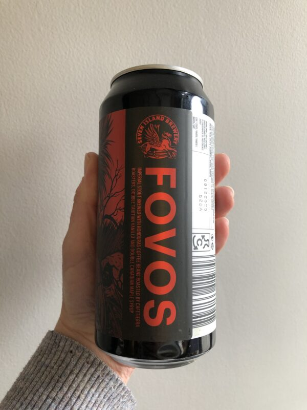 FOVOS Imperial Coffee Stout by Seven Island Brewery.
