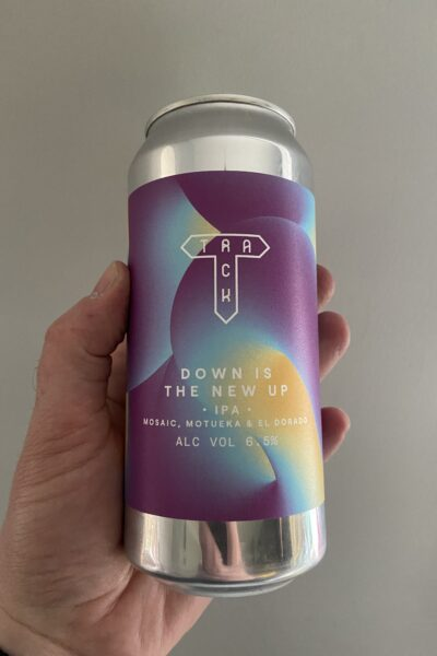 Down is the New Up IPA by Track Brewing Company.