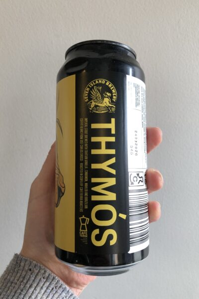 Thymós Russian Imperial Stout by Seven Island Brewery.