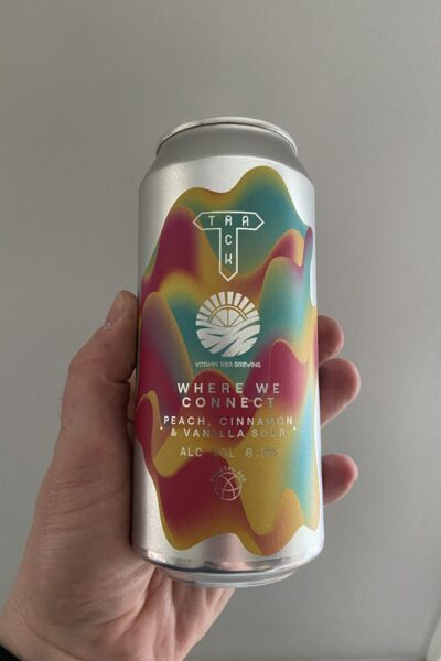 Where We Connect Imperial Peach, Cinnamon and Vanilla Sour by Track Brewing Company.