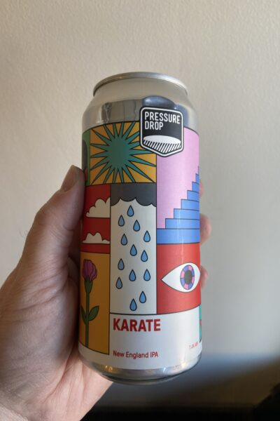 Karate New England IPA by Pressure Drop Brewing.