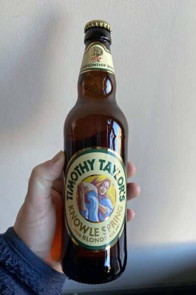 Knowle Spring Blonde Ale by Timothy Taylor's Brewery.